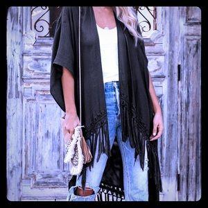 Black Indie Kimono- One Size